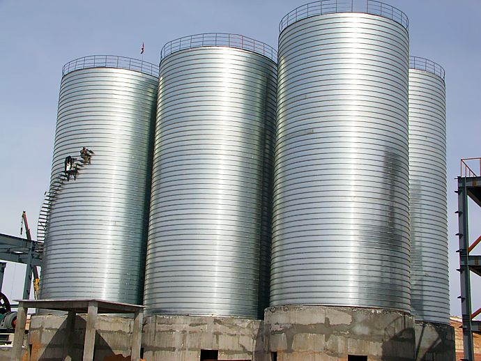 Metal Silo For Sale Widely Applied To Building Material Field