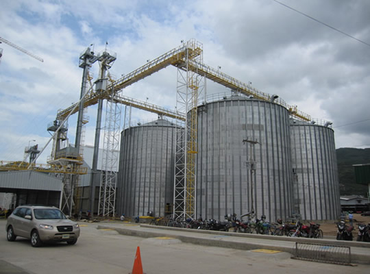 America customer in steel silo