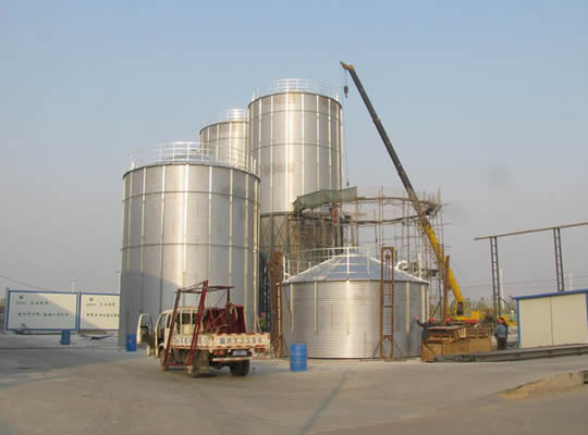 Shanxi customers in Stainless steel silos