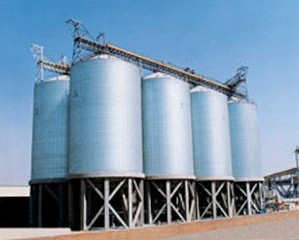 large storage steel silo