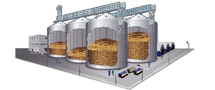 Resultado de imagem para storage of grains in silos